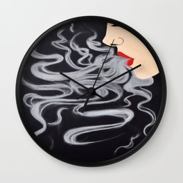 Smoke Dreams, Smoking Lady Series Wall Clock
