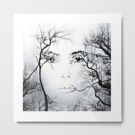 face in the trees Metal Print