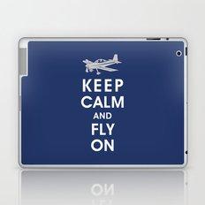 Keep Calm and Fly On Laptop & iPad Skin