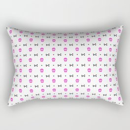 Skull Pattern | Bones Heavy Metal Cemetery Rectangular Pillow