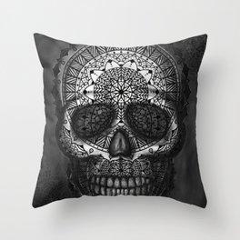 Caveira Mandala Throw Pillow