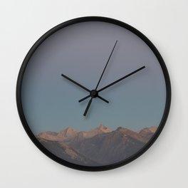 Good Morning Mountains Wall Clock