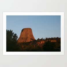 Devils Tower, WY Art Print