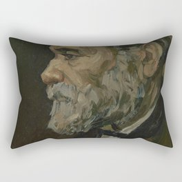Portrait of an Old Man Rectangular Pillow