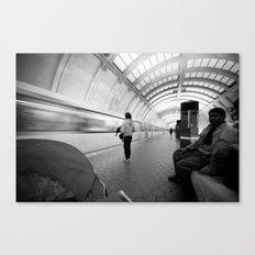 On the Metro, Washington DC Canvas Print