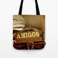 mexican Tote Bags featuring Mexican by laika in cosmos
