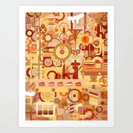The Cake Factory Art Print