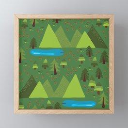 Outdoor Escape Pattern Framed Mini Art Print