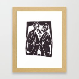 Chang and Eng the Famous Siamese Twins Framed Art Print