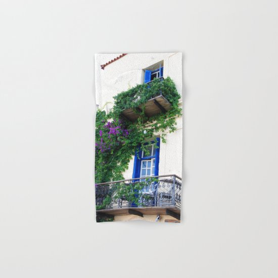 Chania Old Town View Hand & Bath Towel