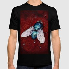 Green Bottle fly LARGE Mens Fitted Tee Black