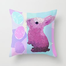 Peepster Bunny Throw Pillow