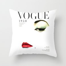 Fashion Print Gift Women Vogue Print Vogue Cover vogue cover 1950 Fashionista Fashion Decor Wall art Throw Pillow