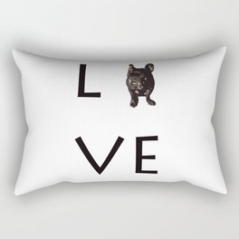 French Bulldog Love Art Print Rectangular Pillow