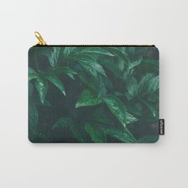 Green Leaves with Water Droplet - Nature Photography Carry-All Pouch