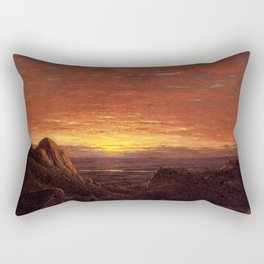 Morning Looking East over the Hudson Valley from Catskill Mountains by Frederic Edwin Church Rectangular Pillow