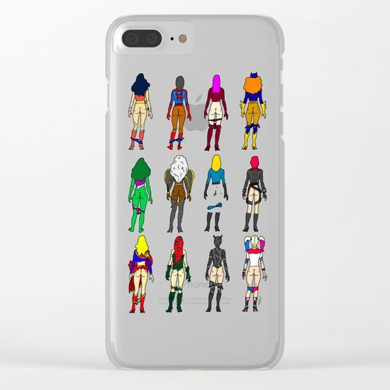 Superheroine Butts LV Clear iPhone Case