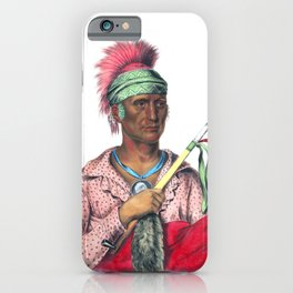 Ne-O-Mon-Ne, an Ioway chief iPhone Case