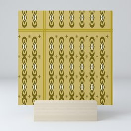 Seamles square and circle line pattern  Mini Art Print