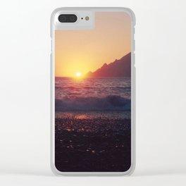Crash into me - Romantic Sunset @ Beach #1 #art #society6 Clear iPhone Case