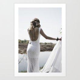 Boho woman Art Print