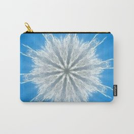 Soft Fluffy Snowflake Kaleidoscope Carry-All Pouch