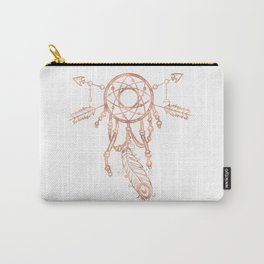 Mandala Rose Gold Pink Dreamcatcher Carry-All Pouch