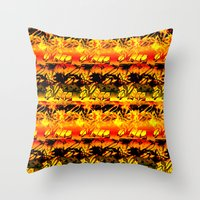 africa Throw Pillows featuring Africa. by Assiyam