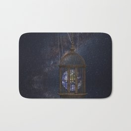 Surrealism Fantasy Earth Bath Mat