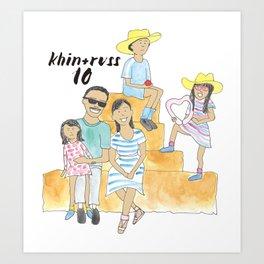 K + R Fam Art Print