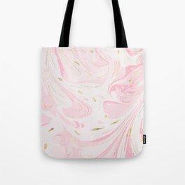 Modern faux gold glitter pastel pink elegant marble Tote Bag