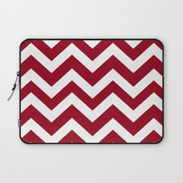 Carmine - pink color - Zigzag Chevron Pattern Laptop Sleeve