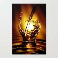 drink Canvas Prints featuring Drink by Digital Dreams