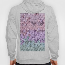 Mermaid Scales with Unicorn Girls Glitter #1 #shiny #pastel #decor #art #society6 Hoody