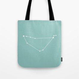 Capricorn Zodiac Constellation - Teal Tote Bag