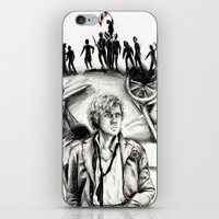 les miserables iPhone & iPod Skins featuring Les Miserables Portrait Series - Enjolras by Flávia Marques