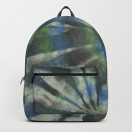 Tie Dye in Blue and Green 10 Backpack