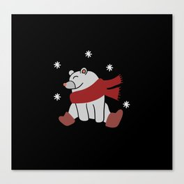 Winter bear shirt Canvas Print