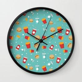 Burgers pattern Wall Clock
