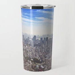 Skyline of Tokyo, Japan with the Tokyo Tower, from above Travel Mug