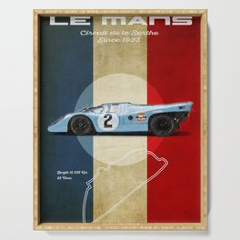 Le Mans Racetrack Vintage Serving Tray