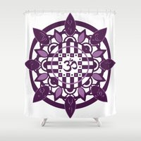 yoga Shower Curtains featuring Yoga by Janava