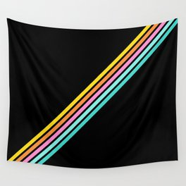 Minimal Abstract Retro Stripes 80s Style - Bakunawa Wall Tapestry