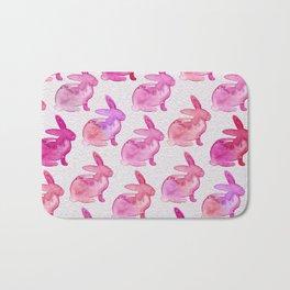 Watercolor Bunnies 1E by Kathy Morton Stanion Bath Mat