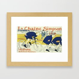 Vintage poster - La Chaine Simpson Framed Art Print
