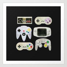 Gamer Nostalgia Art Print