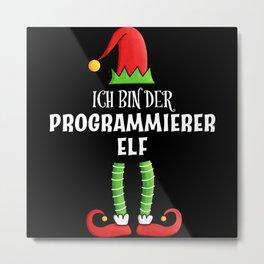 Programmierer Elf Partnerlook Weihnachten Metal Print
