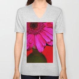 Bright Pink Efflorescence Unisex V-Neck
