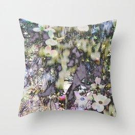 Dogwood Dell Throw Pillow