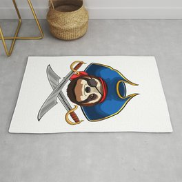 Pirate Sloth Patch Viking Novelty Halloween Rug